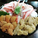 夏の塩水生うにを食べに小樽三角市場へ行った旨し!